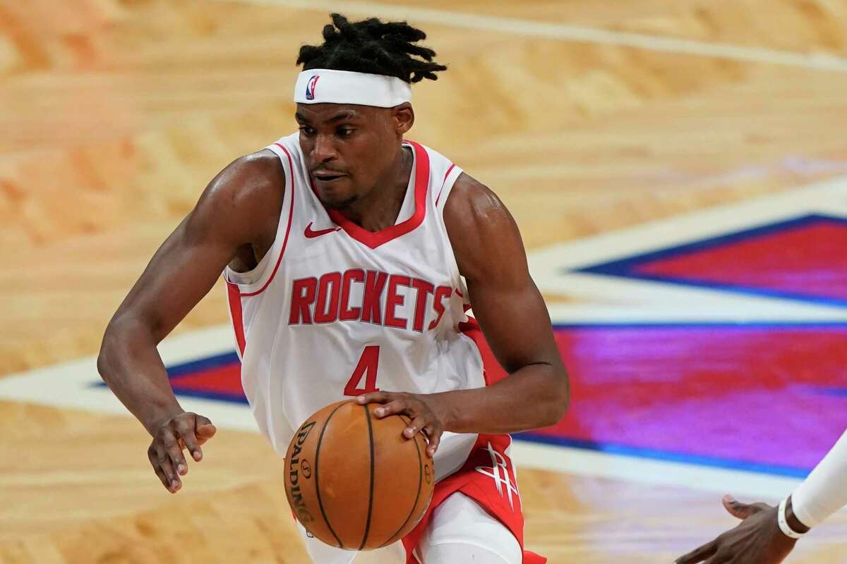 Danuel House Jr. (4) during the second half of an NBA basketball game against the Brooklyn Nets Wednesday, March 31, 2021, in New York. (AP Photo/Frank Franklin II)