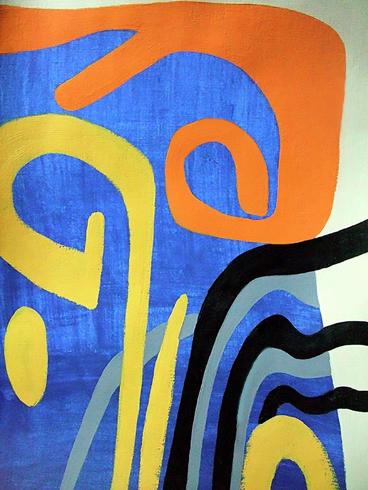 Remembering Matisses (acrylic).