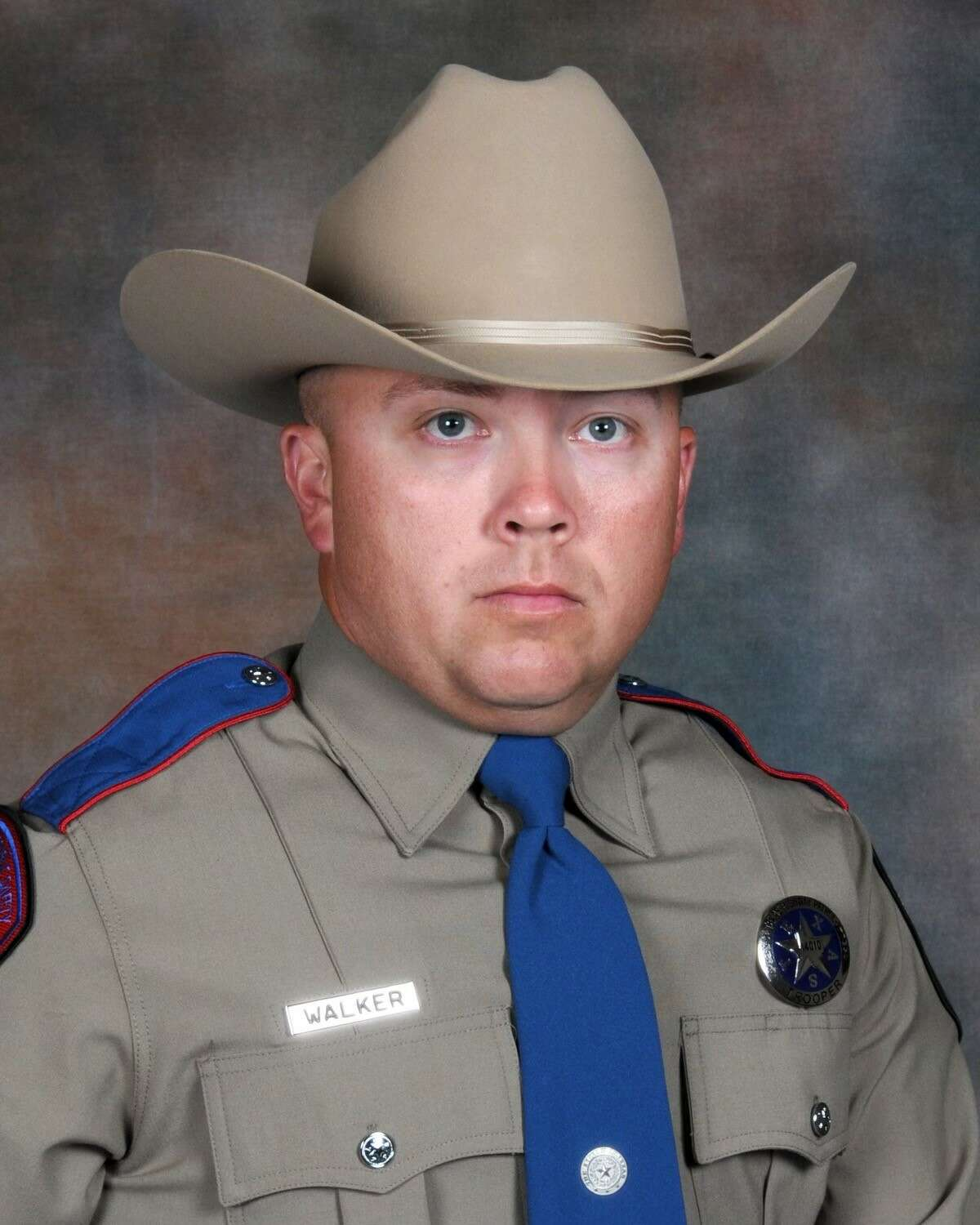 Highway Patrol Trooper Chad Walker, 38, was fatally shot Friday during a traffic stop near Mexia, Texas.