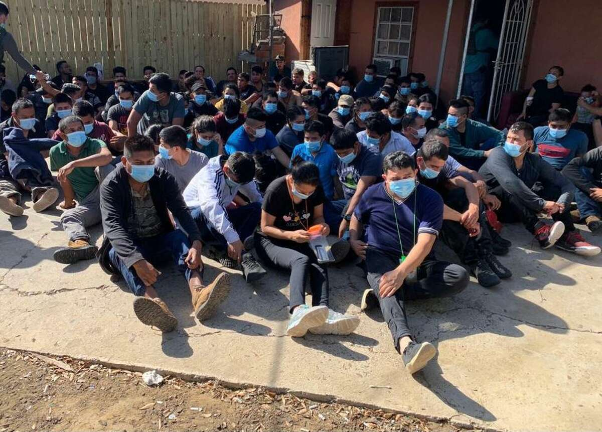 Federal and local authorities discovered 85 people inside a home in the 4000 block of Loverde Lane on March 25. All were determined to be immigrants who had crossed the border illegally.