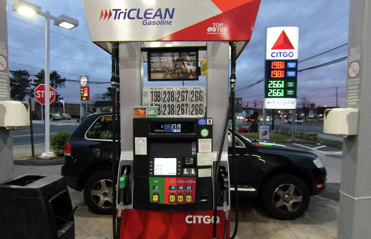 A view of a gas pump at the Citgo station along Housatonic Avenue in Bridgeport last year.