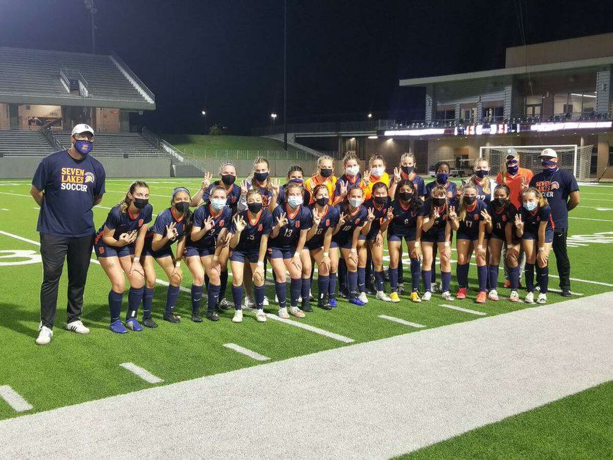 The Seven Lakes girls soccer team defeated Cy Creek 4-0 in the Region III-6A area playoffs.