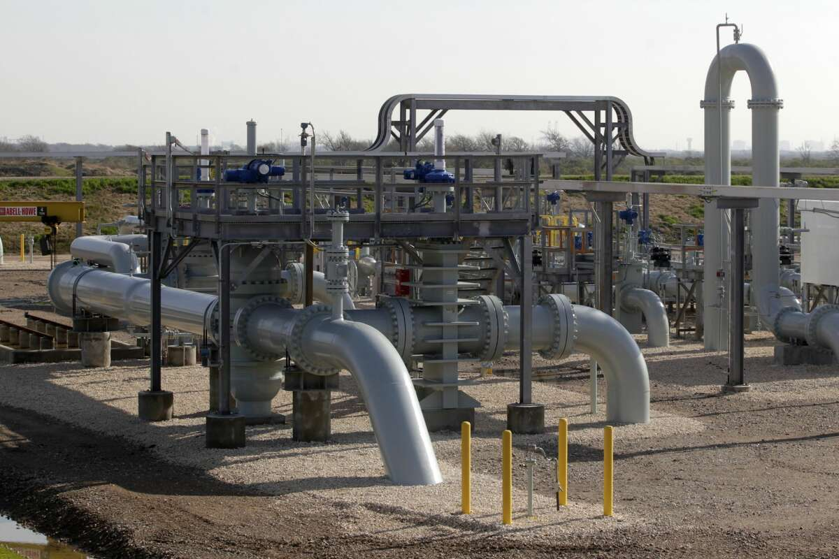 Oil pumps are shown at the Enbridge and Energy Transfer Jones Creek facility in this 2015 file photo. Midstream companies see overcapacity in the Permian at the moment, following completion of several new build and pipeline expansion projects. They see opportunity in natural gas, LNG and 'the fuels of the future.'