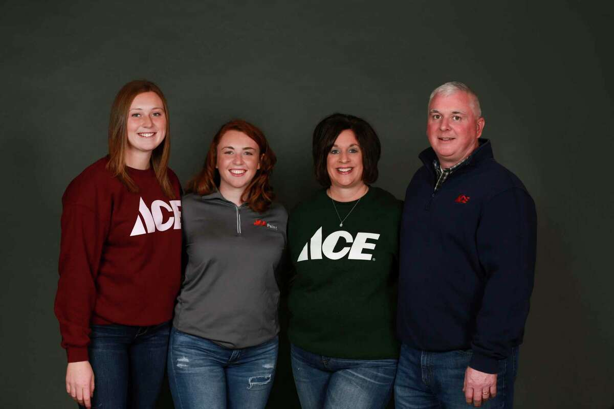 Brynn, Laken, Laura and Brad Polega will carry on the reputationof Ace Hardware-Bad Axe after purchasing the store in March. (Crooked Creek Photography/Courtesy Photo)