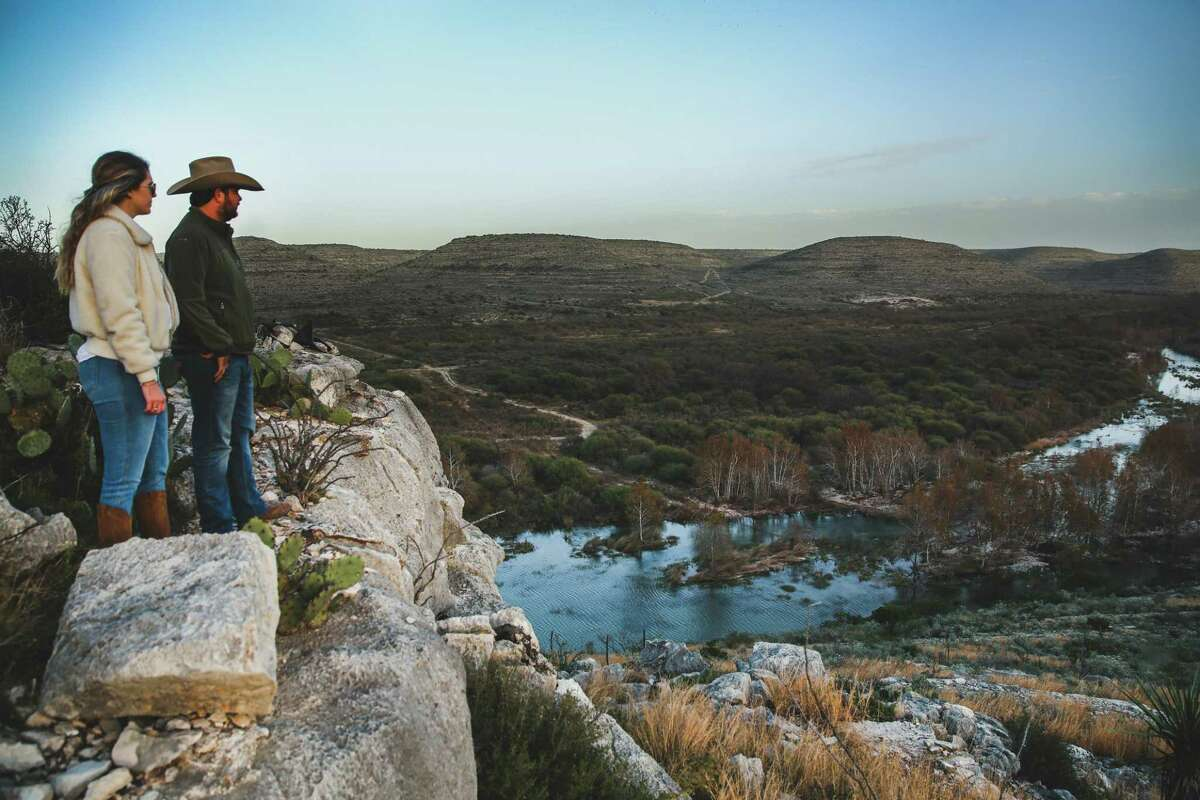 The 15,000 acres of Hudspeth River Ranch in Val Verde County includes a heavenly view of Devils River. The ranch is available for rental through Explore Ranches for $650 per adult per night.