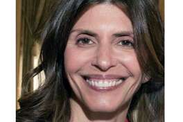 FILE - This undated file photo from a missing persons flier provided by the New Canaan Police Department shows Jennifer Dulos, mother of five who went missing in May 2019. Her estranged husband, Fotis Dulos, was arrested by state police Tuesday, Jan. 7, 2020, in Farmington, Conn., and faces murder charges. (New Canaan Police Department via AP, File)