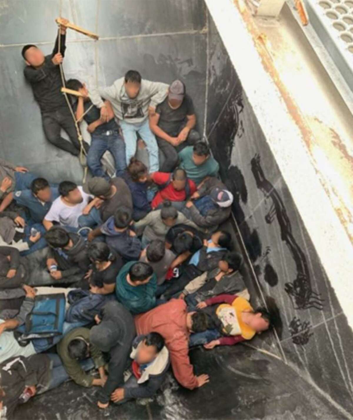 U.S. Border Patrol agents assigned to the Hebbronville Station rescued an unresponsive woman found inside a grain hopper railcar and detained a large group of immigrants who had crossed the border illegally.