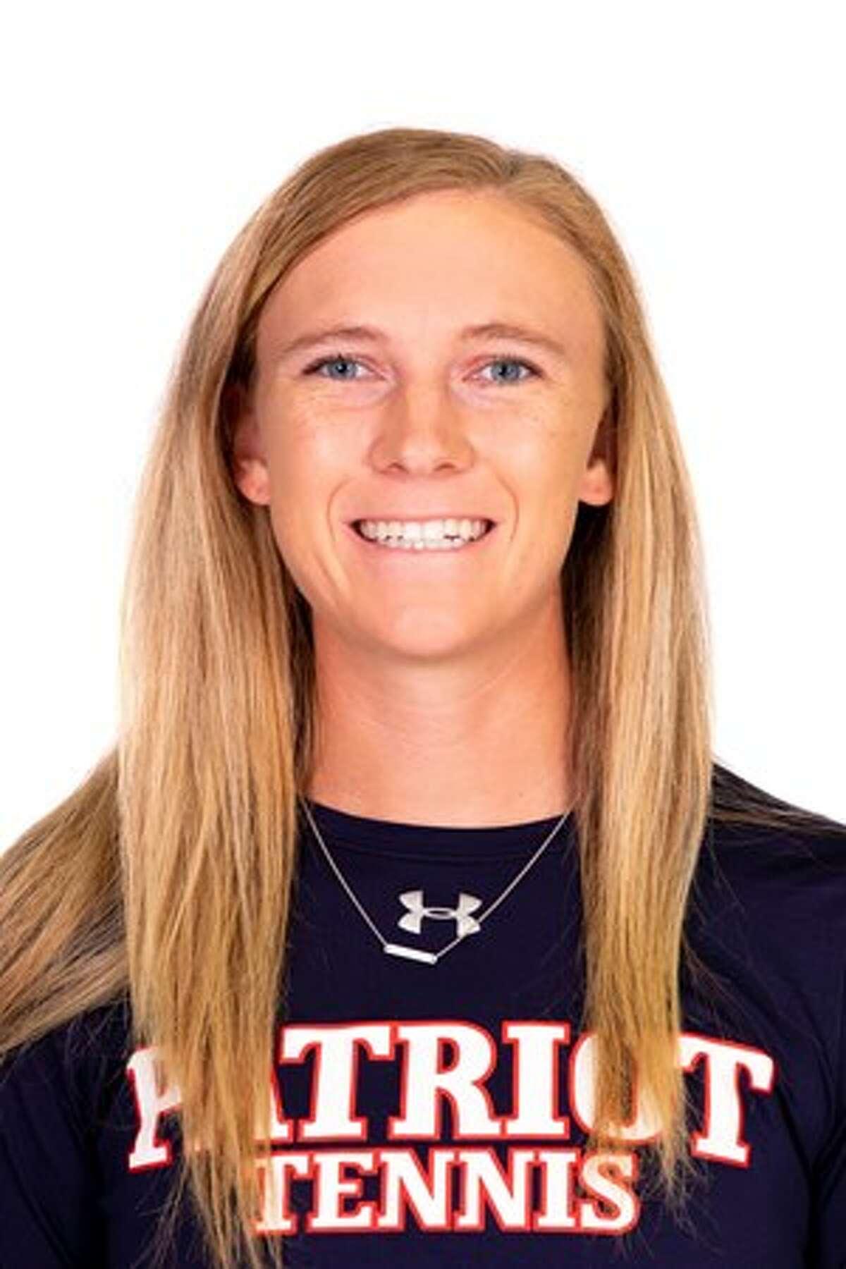 Midland High grad and Dallas Baptist junior tennis player Kate Daugherty.