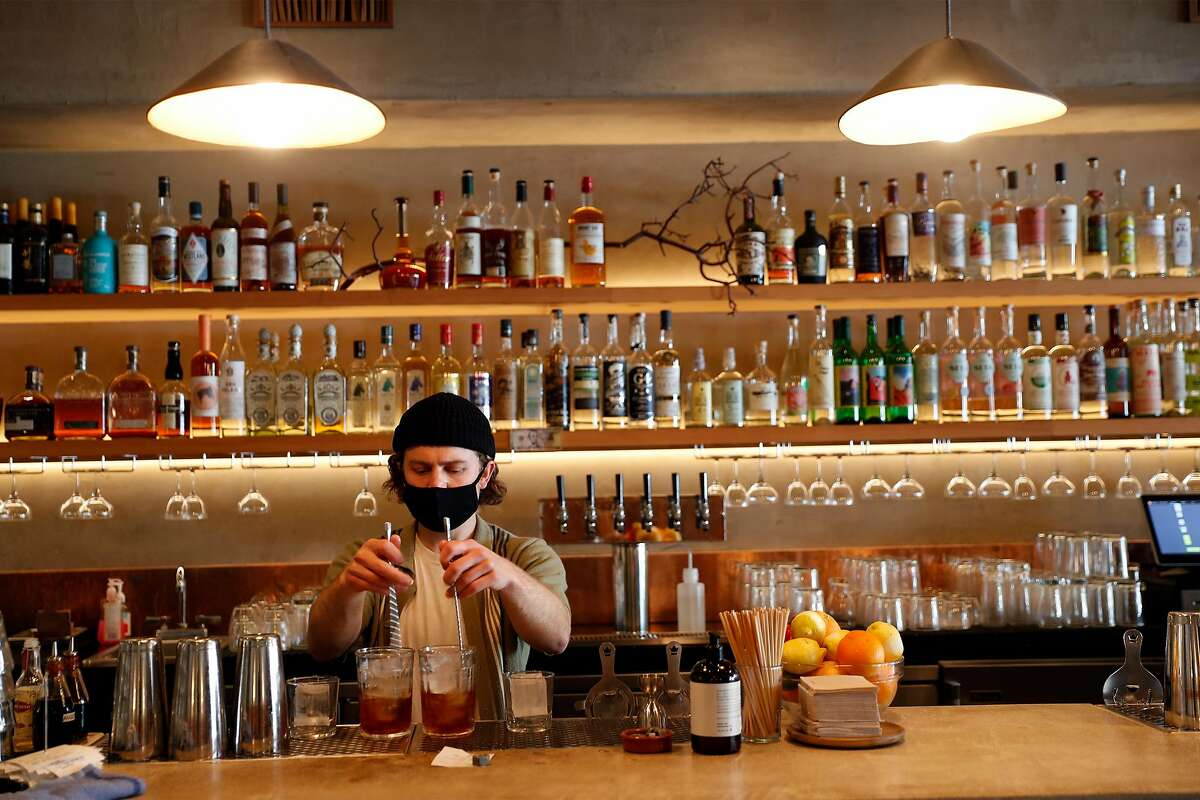 Bartender Dylan Jones also oversees Stillwater's list of natural wines.