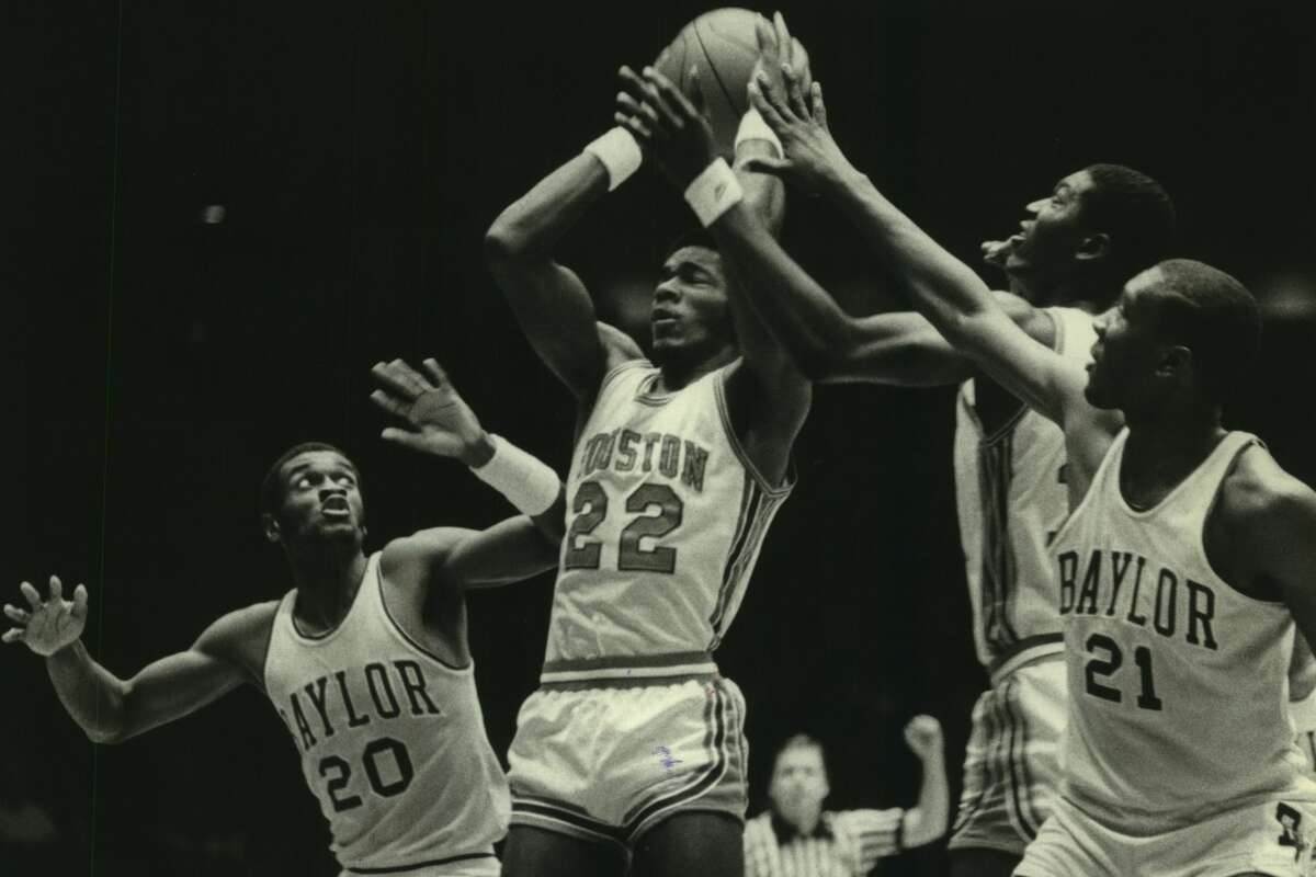 Clyde Drexler (22) and the Cougars faced Baylor twice a year when they were Southwest Conference rivals. The former league foes' biggest meeting comes Saturday with a berth in the national championship game on the line.