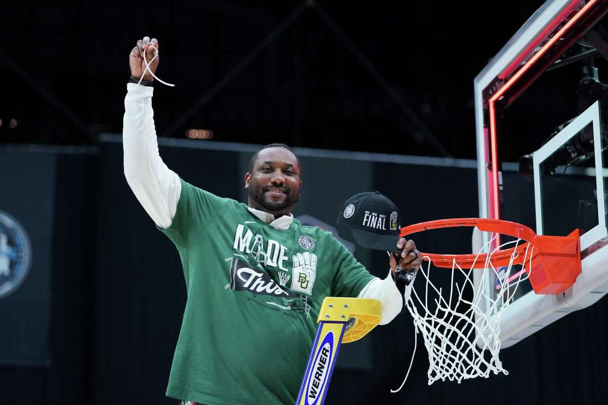 Baylor assistant coach Alvin Brooks III, who will go against his father Alvin Brooks, a UH assistant, in this year's Final Four.