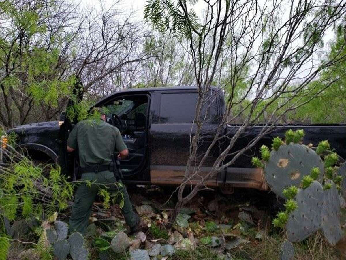 U.S. Border Patrol agents said they recovered this stolen Ford vehicle during a human smuggling attempt.