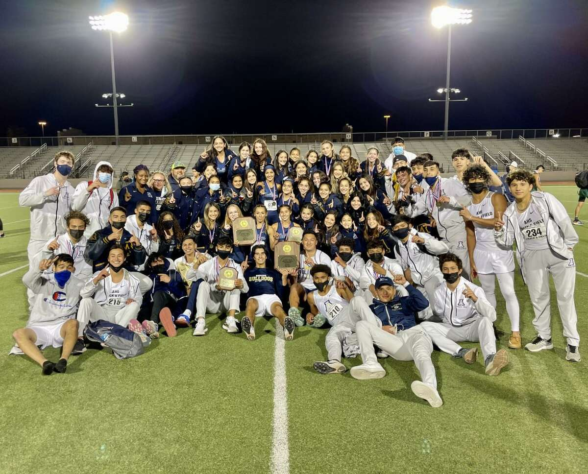 The Alexander boys' and girls' track & field teams both won titles at the District 30-6A meet to stay undefeated this season.