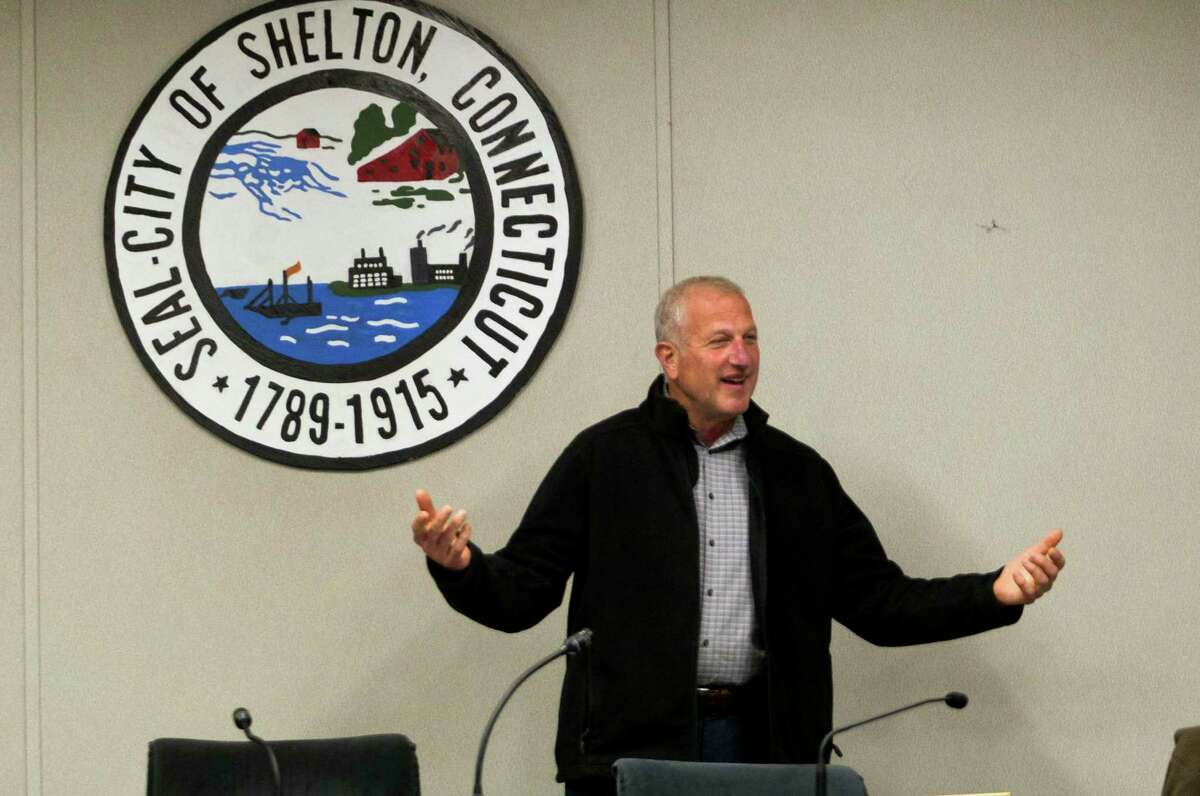 Mayor Mark A. Lauretti presented his budget for Fiscal Year 2021-2022 to the Board of Aldermen and the Board of Apportionment and Taxation at Shelton City Hall in Shelton, Conn., on Thursday April 1, 2021.