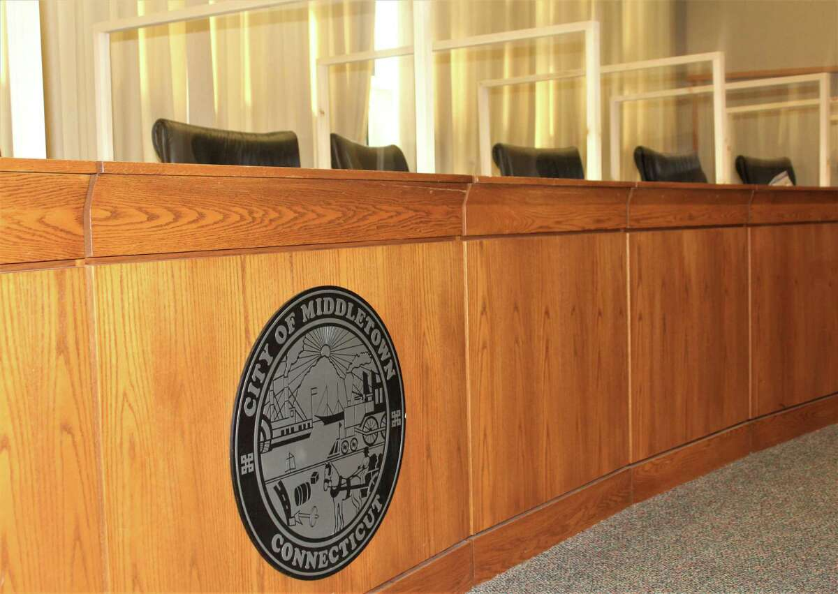 Middletown's Common Council chambers are located at City Hall, 245 deKoven Drive.