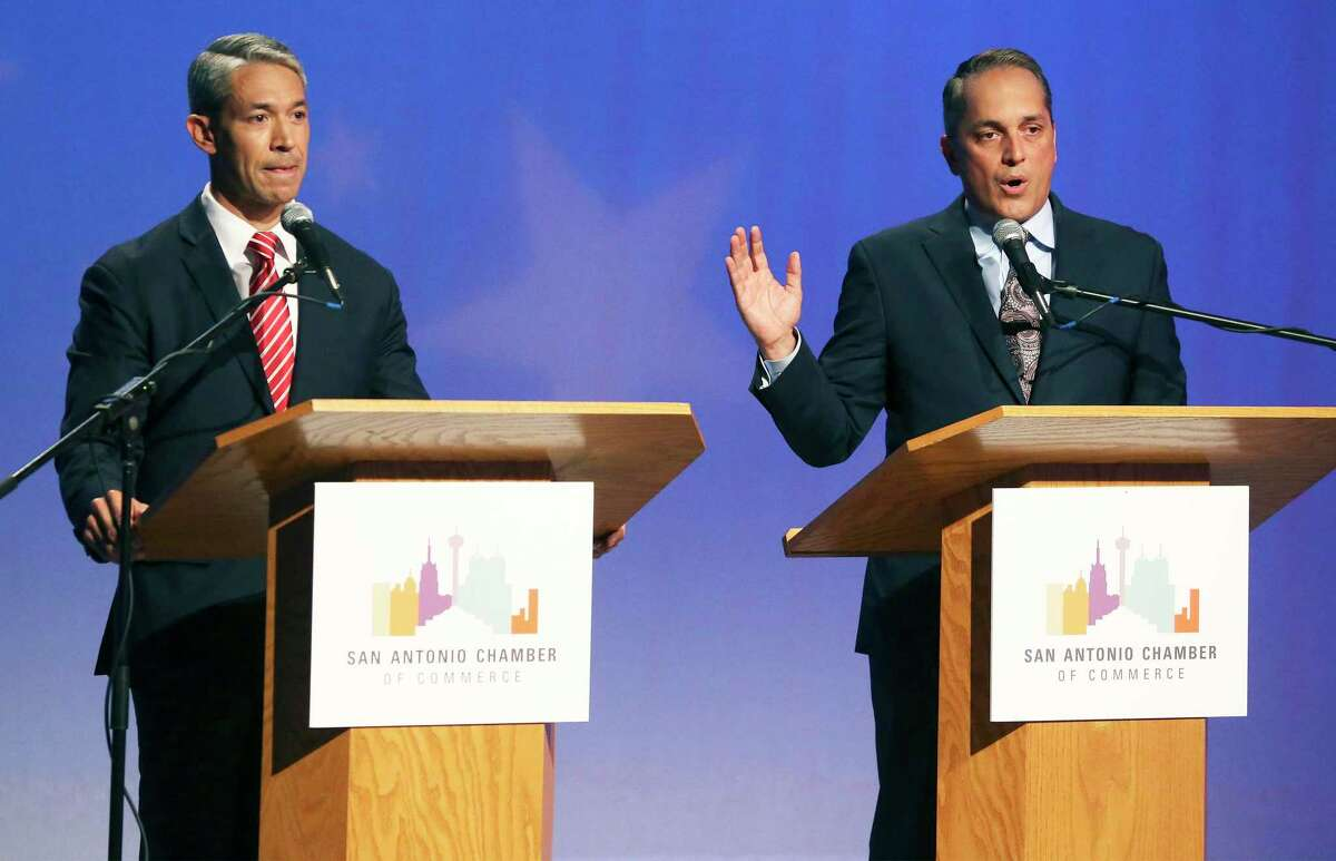 Ron Nirenberg and Greg Brockhouse face off at the KLRN Studios on May 2, 2019 in their last debate before the mayoral election.