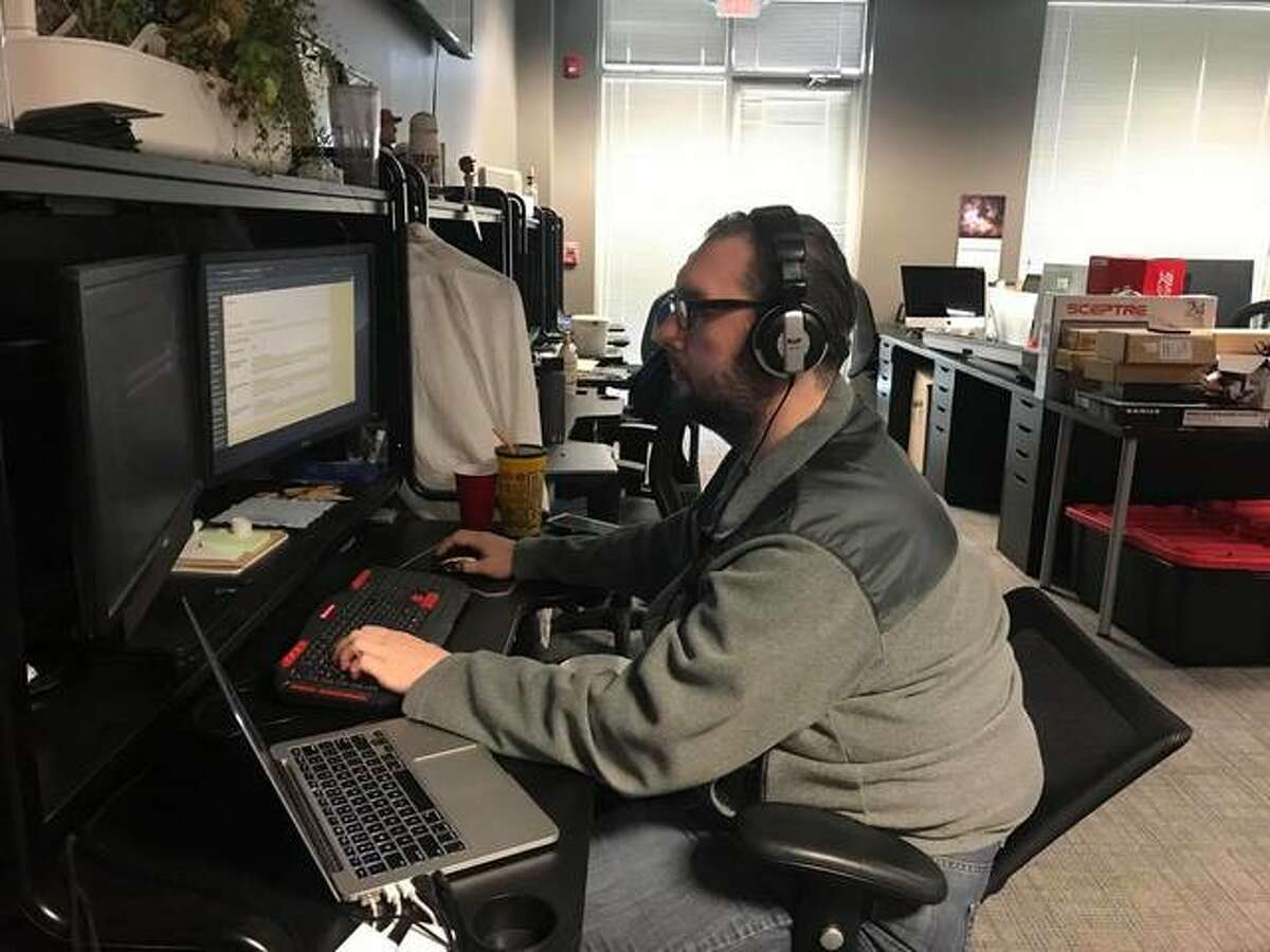 Collinsville native Brian Krock, now of St. Louis, works as a production engineer at Lineup Media Group's headquarters in Edwardsville. Krock produces podcasts, video and esports streaming among other content for the firm, which also is involved in financial technology, online gambling, healthcare and media.