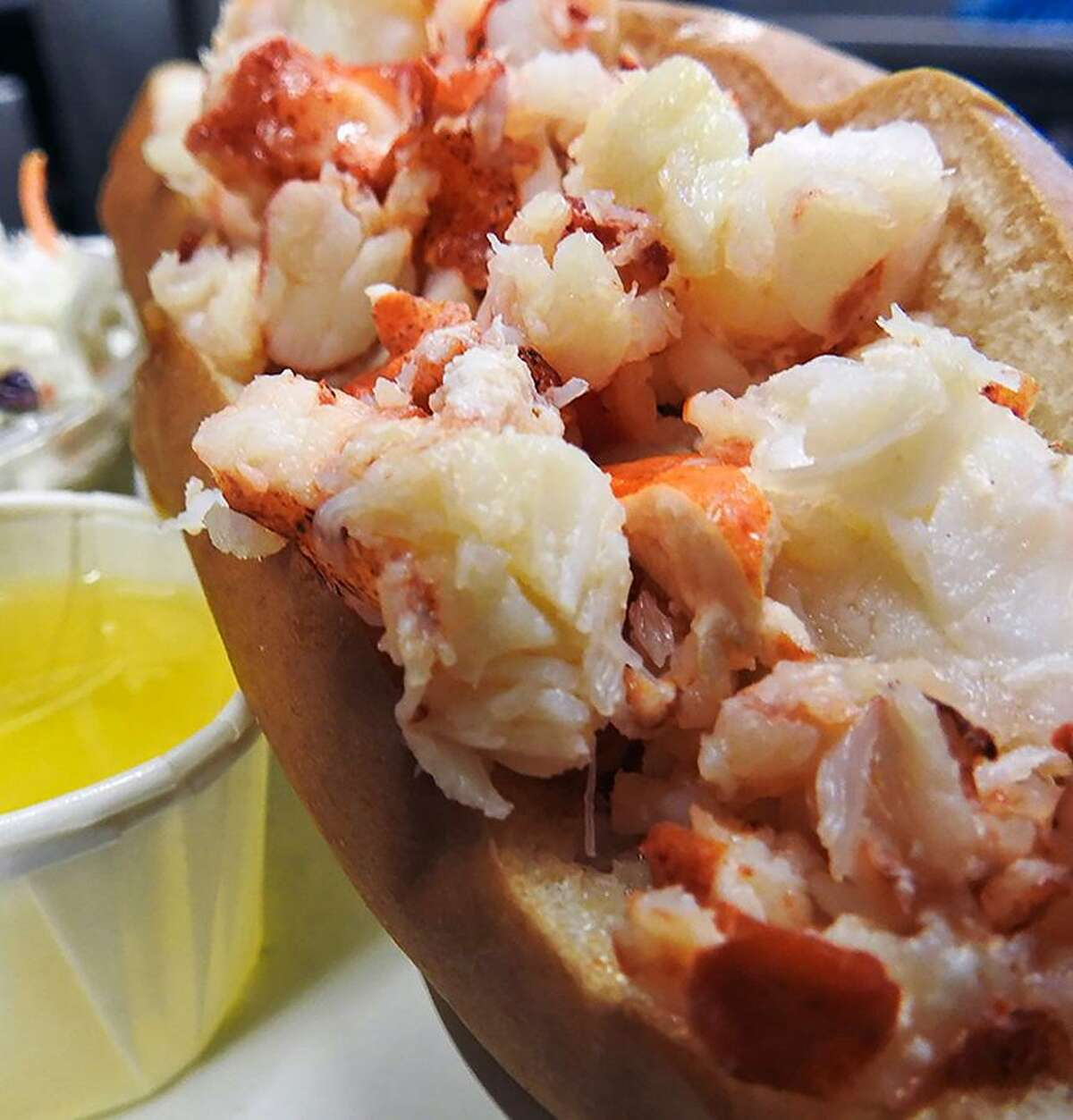 A lobster roll at Lenny & Joe's Fish Tale, with locations in Madison and Westbrook.