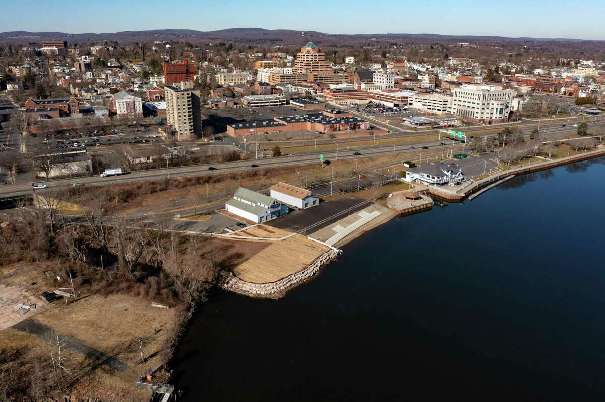 Downtown Middletown and the Connecticut River are shown on March 21.