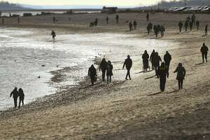 Compo Beach is a popular walking spot during holiday vacation week in Westport, Conn. on Sunday, December 27, 2020.