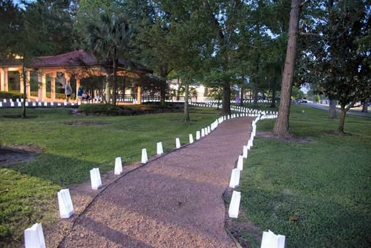 Luminarias are lit during the 2019 Relay For Life of Cy-Fair event.