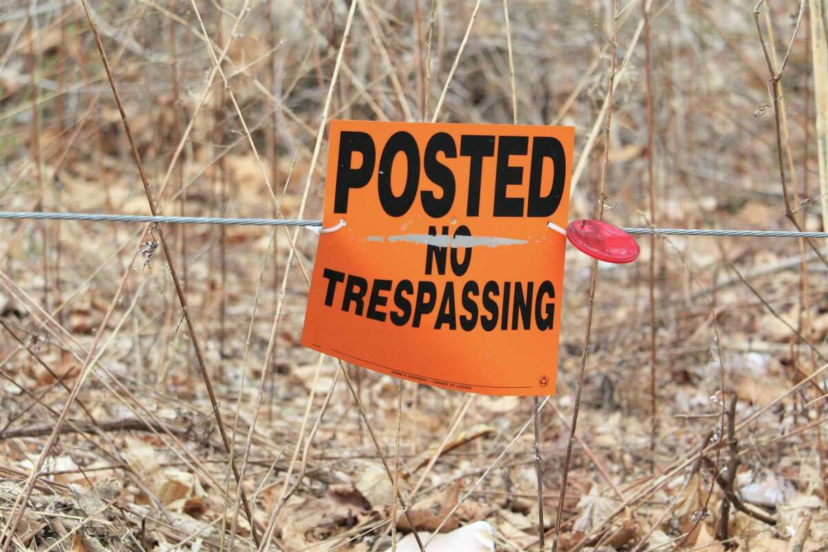 No trespassing is allowed at Jackson Corrugated on River Road in Middletown.