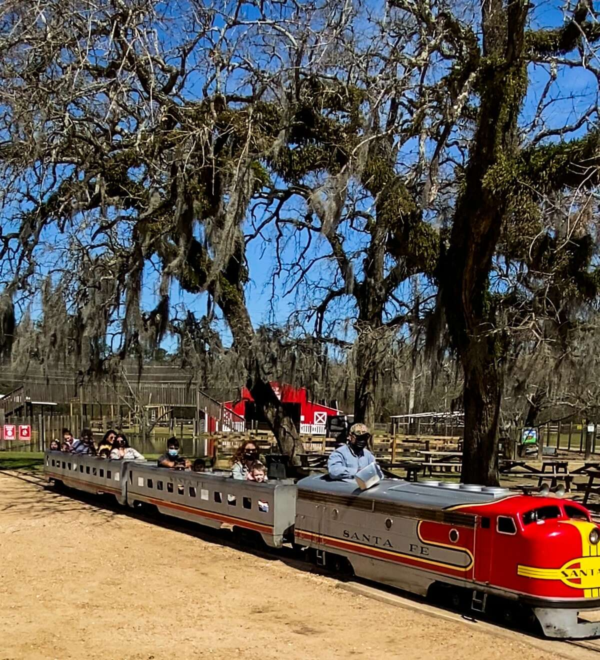 THE TRAIN RIDE The train ride is included with farm admission, which is $15 per person and free for babies under 18 months. The train is limited to provide two rides per visit.  All other activities, like the pony rides, petting zoos, and swimming pool, is also included in admission.