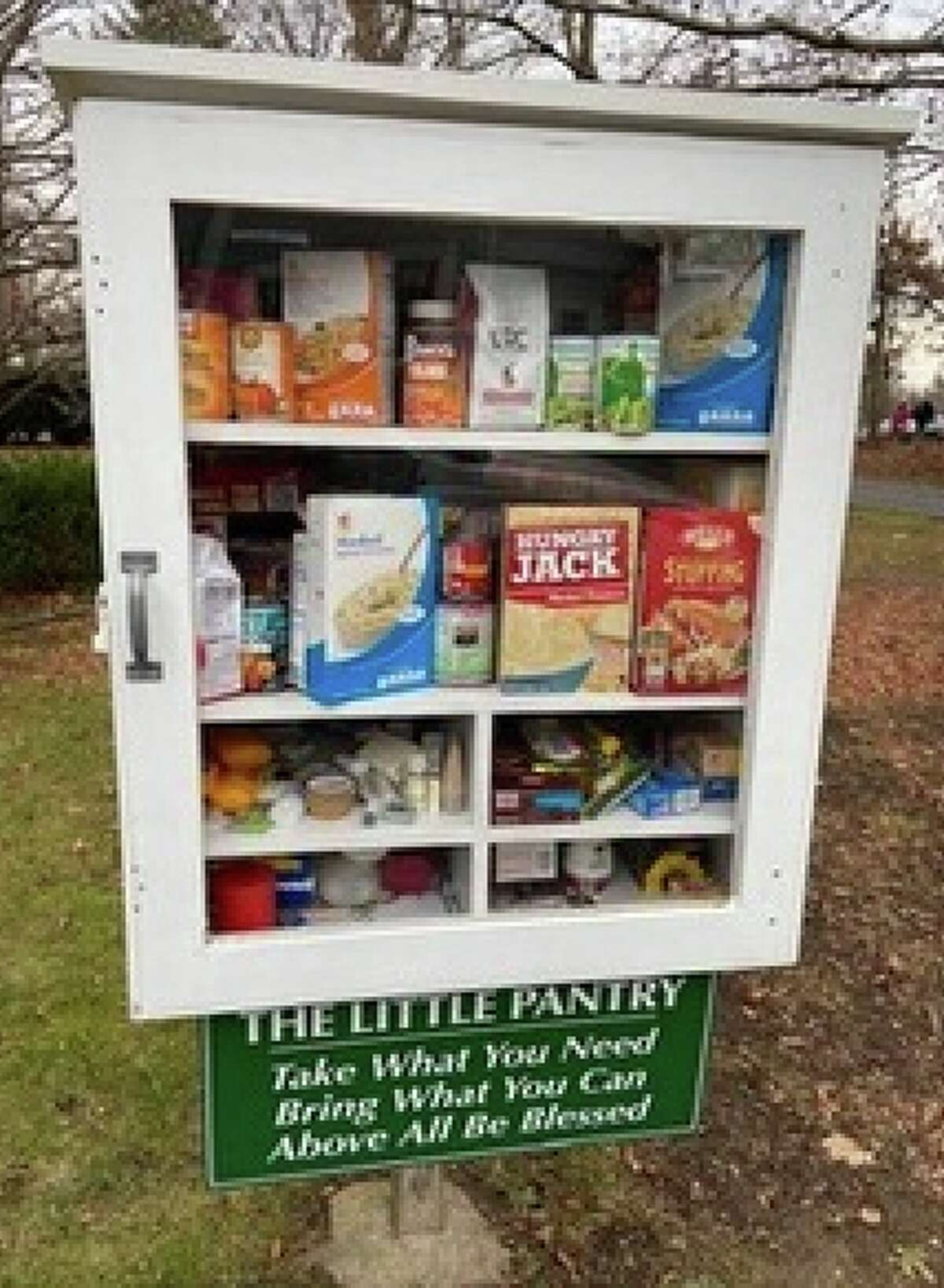 With the help of community partners, Weiner will use her grant to establish more Little Pantry posts like this one in Fairfield County