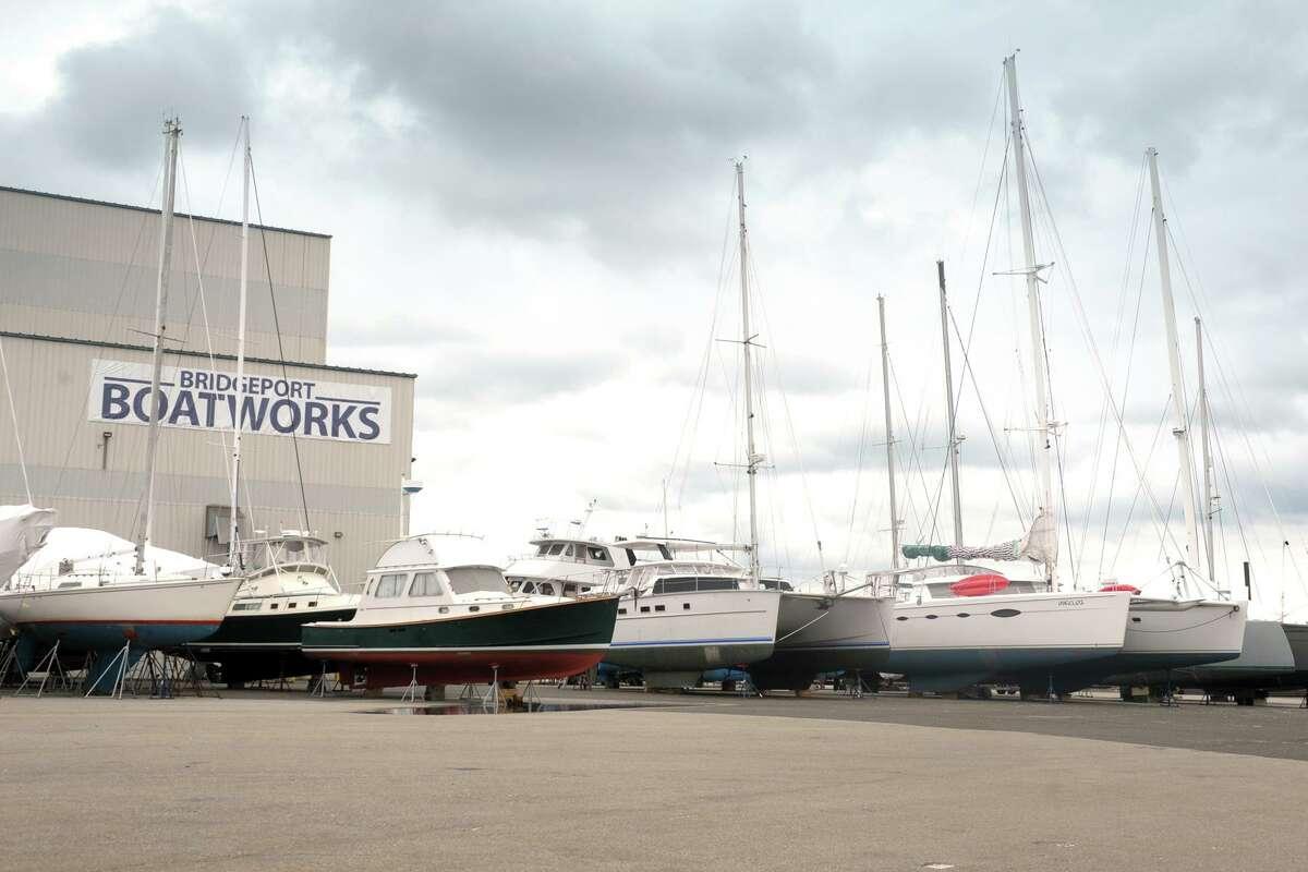 Bridgeport Boatworks in early April.
