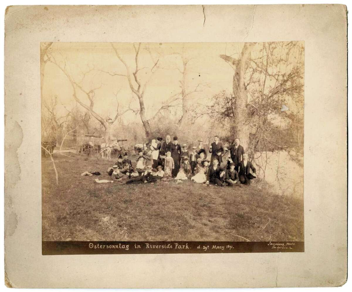 Jacobson. Ostersonntag in Riverside Park, photograph, March 29, 1891; Provided by the Austin History Center, Austin Public Library to The Portal to Texas History,