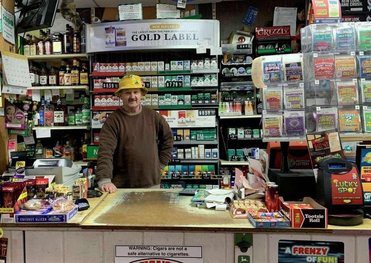 Henry Peterson, owner of Wee Bee's Party Store in Morley is celebrating 34 years and 12,000 consecutive days -- and counting -- of being open for business. (Pioneer photo/Cathie Crew)