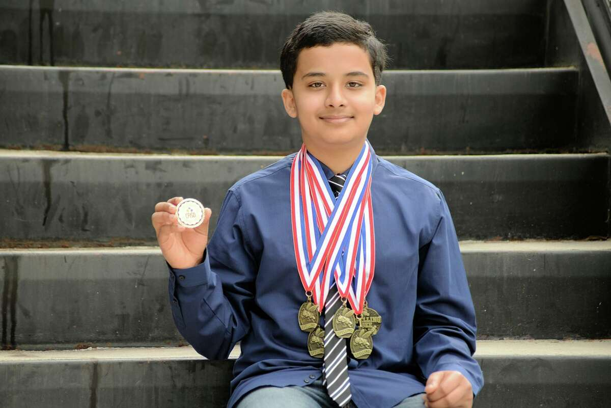 Salyards Middle School student Shawn Ray became the Houston Public Media Regional Spelling Bee co-champion on March 9, 2021 after earning a perfect score.