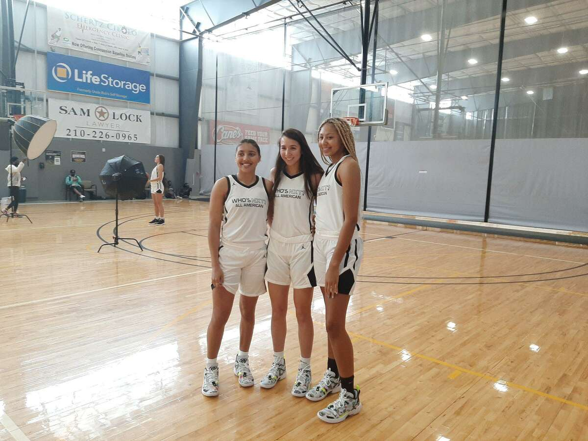 UConn recruits Azzi Fudd, Caroline Ducharme and Amari DeBerry at the Who's Nxt? All-American Game in San Antonio on Friday.
