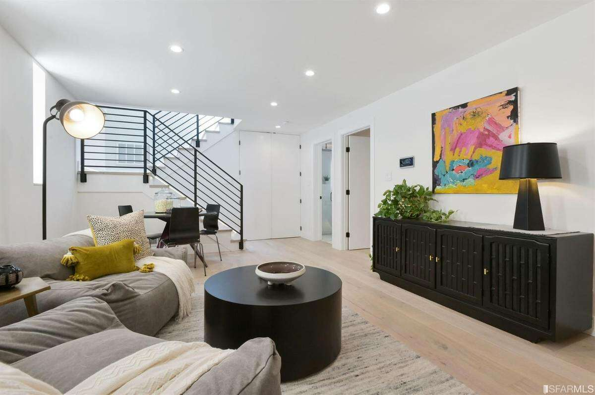 The three-bedroom house has been completely renovated, according to the listing, with new appliances and lots of lighting.