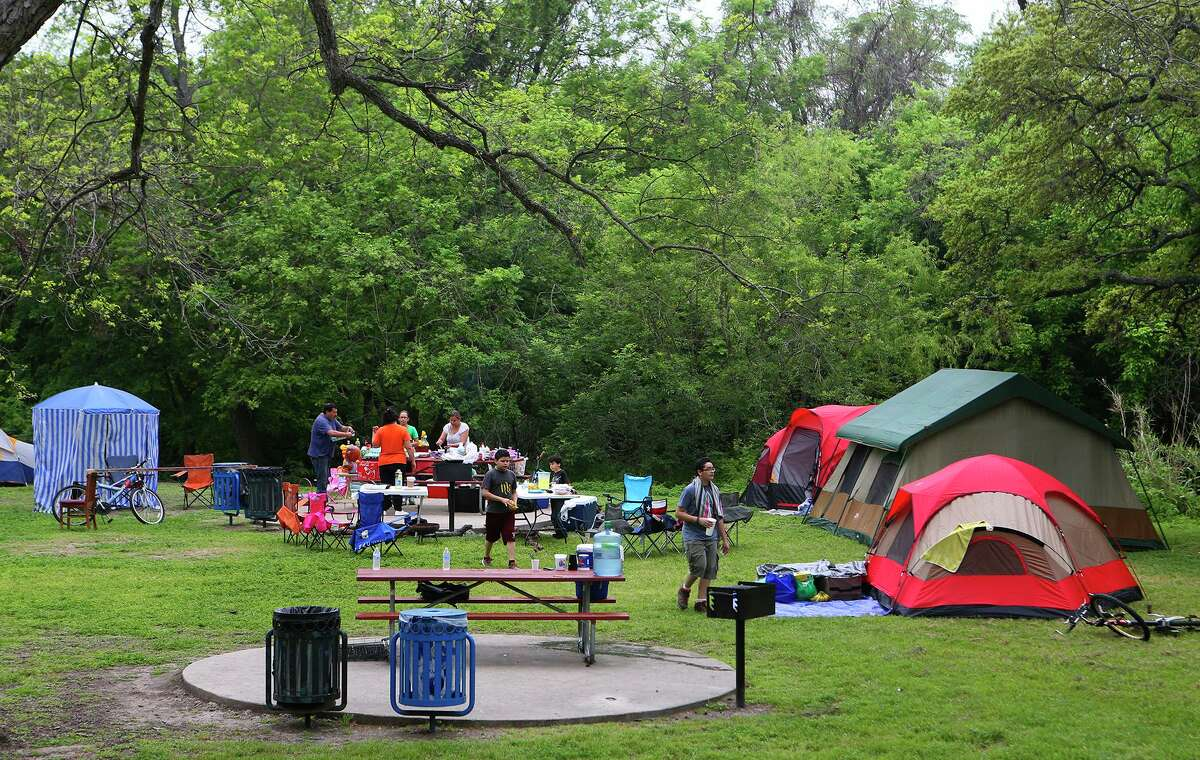 Easter camping is a San Antonio tradition, as pictured here in 2015 at Brackenridge Park, but the pandemic has given us the freedom to break this tradition. Embrace it!