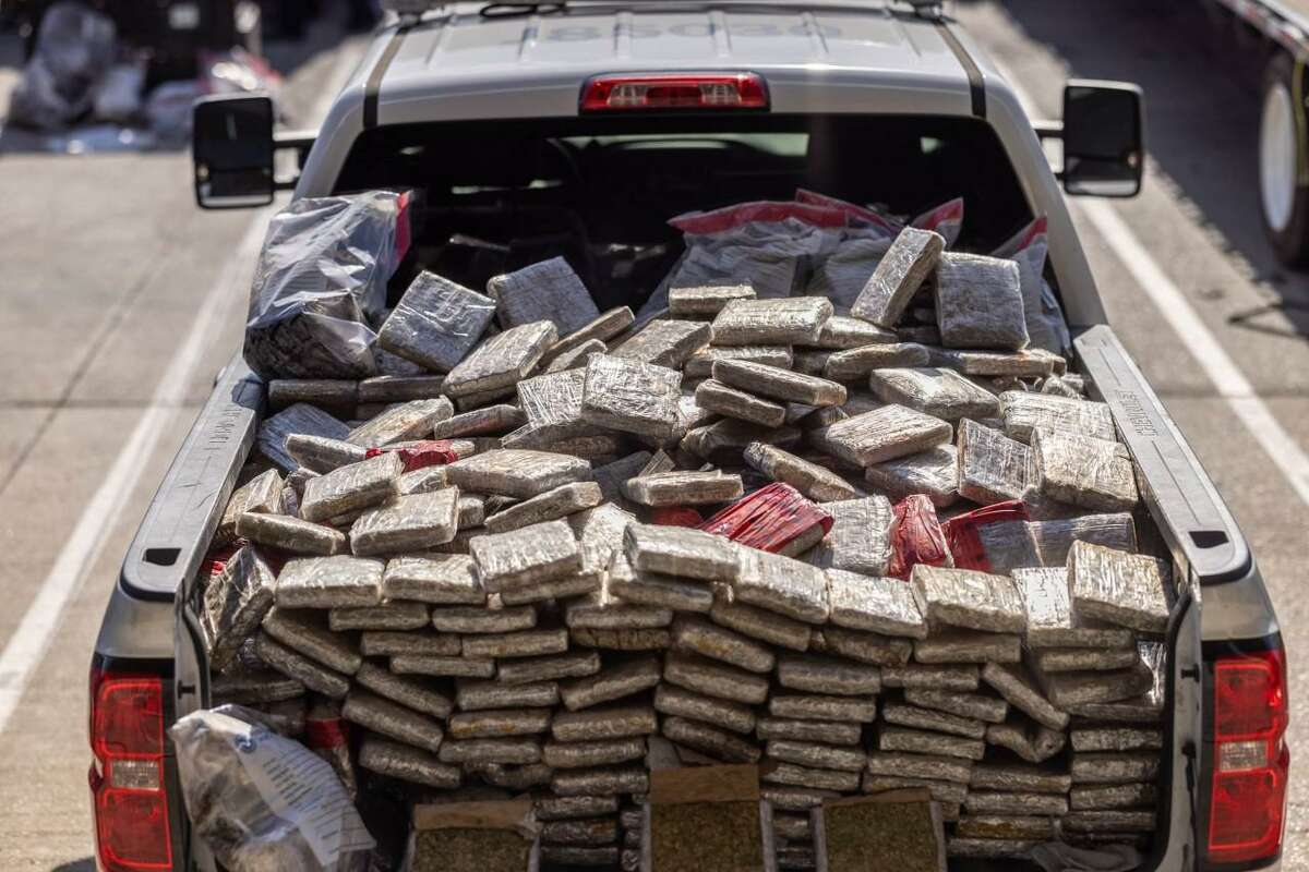U.S. Customs and Border Protection officers seized these 1,607.61 pounds of marijuana at the World Trade Bridge. Authorities said the contraband had an estimated street value of $321,518.86.