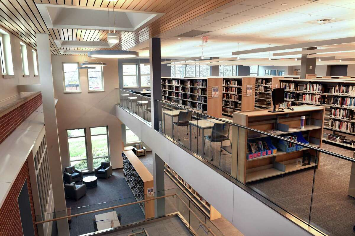 The expanded section of the E.C. Scranton Memorial Library in Madison photographed on April 1, 2021.