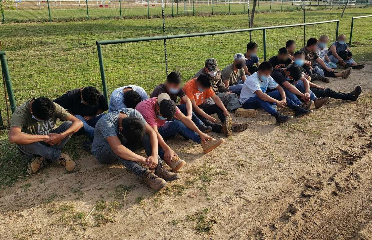 Federal and county authorities discovered this group of people at a stash house north of Laredo on March 29. All were determined to be immigrants who had crossed the border illegally.