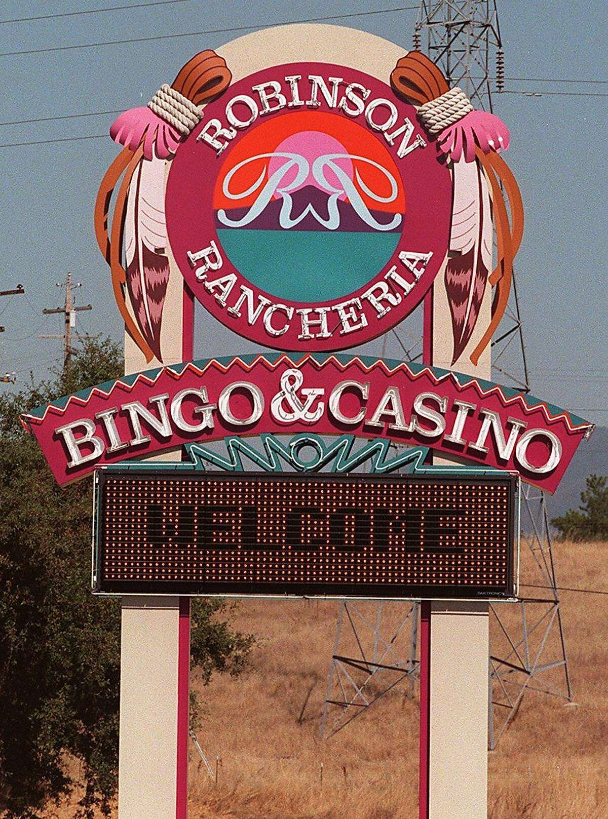 The casino at the Robinson Rancheria in Lake County is operated by one of five tribes that sued the state.