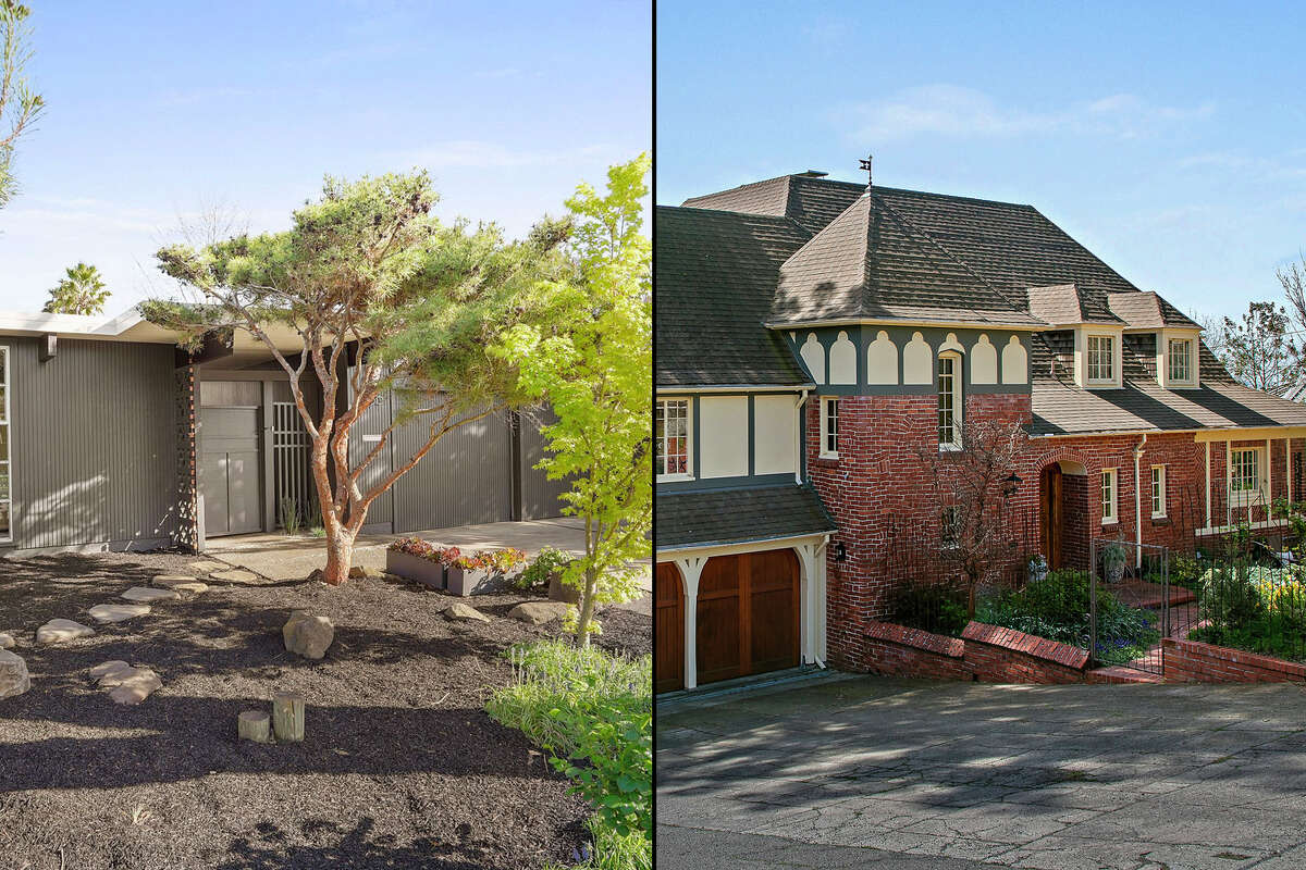 Two homes in Palo Alto (left) and Berkeley, both at the $3 million price point, show different versions of 'luxury.'