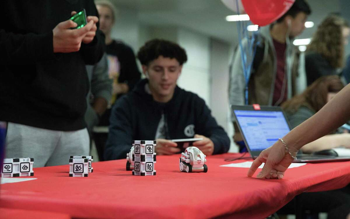 In this photo from before the pandemic, students have the opportunity to learn robotics while at Lone Star College--University Park during a previous Innovation Week. LSC-University Park will be hosting Innovation Week virtually this year from April 5-8.