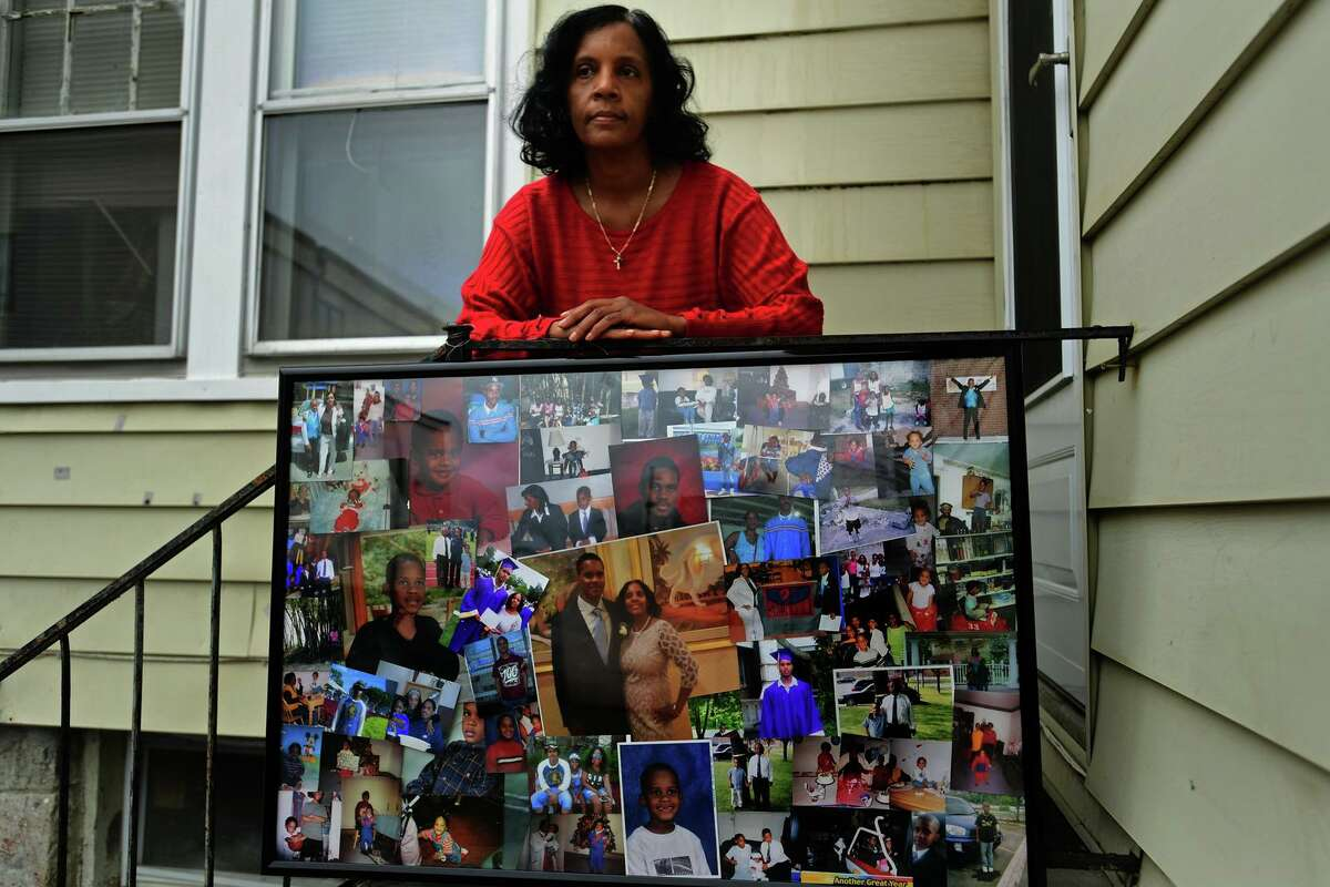 Valerie Jaddo, Friday, March 26, 2021, at her home in Stamford, Conn. As a part of a lawsuit filed last week, Jaddo is asking the city to reform how it responds to mental health/psychiatric calls after an incident with her son.