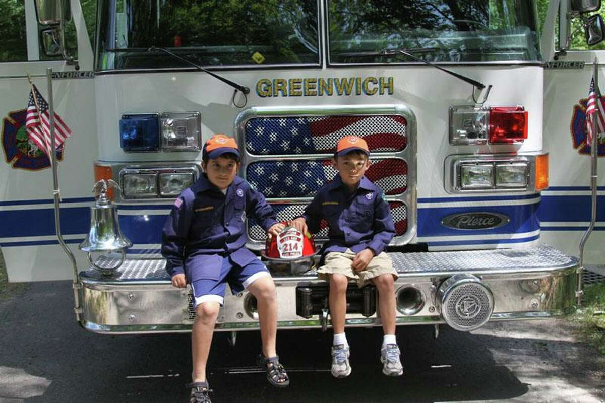 At a previous Greenwich Scouting Cuboree, Cub Scouts participated in emergency preparedness activities at Seton Scout Reservation. Scouts toured the Cos Cob Fire Police Patrol truck and met with other first responders.