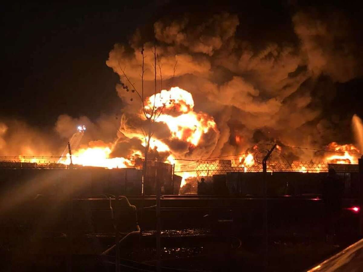 Oakland firefighting crews responded to a two-alarm fire at a recycling plant on San Leandro Street on Friday night. The blaze was later traced to an encampment near the railroad tracks.