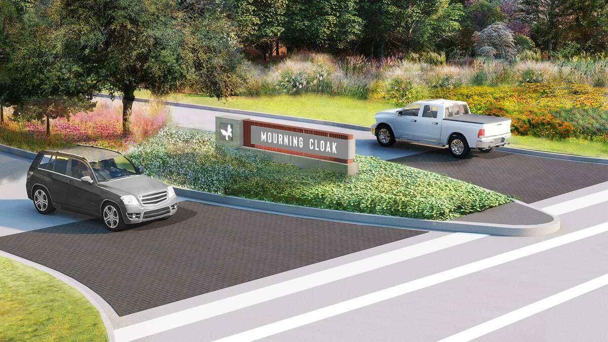 The Howard Hughes Corporation has announced the newest phase in their Bridgeland development with the addition of Prairieland Village. This is an artist's rendering of the horizontal monument placement.