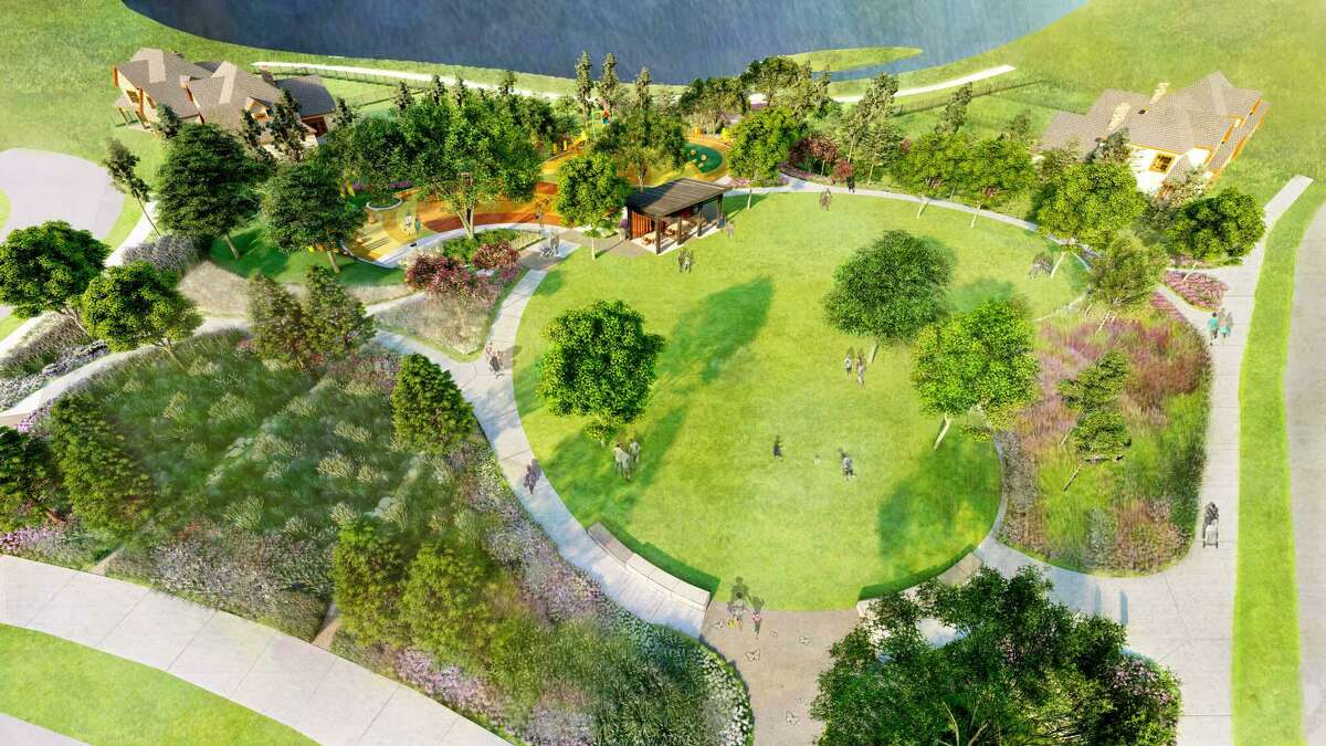 The Howard Hughes Corporation has announced the newest phase in their Bridgeland development with the addition of Prairieland Village. This is an artist's rendering of an aerial view of Papillon Park.
