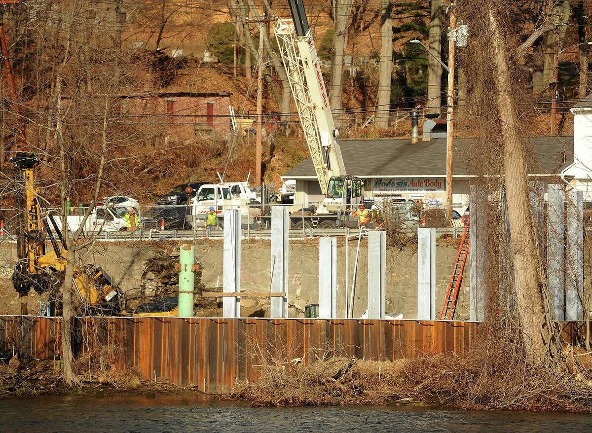 Work continues on the Roosevelt Drive Wastewater Pump Station between Route 34 and the Housatonic River in Derby, Conn. on Thursday, January 3, 2019. The pumpstation is part a major overhall of the city's sewer system.
