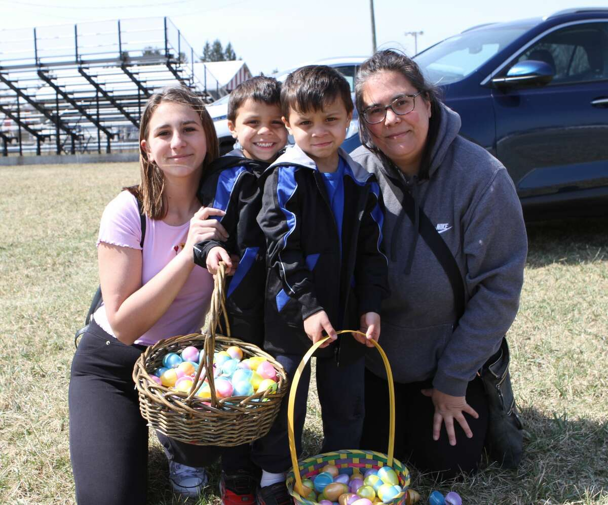Families gathered at the Mecosta County Fairgrounds on Saturdayfor the Big Rapids Elks Club's annual Easter egg hunt for children of all ages. Children were quick to round up as many Easter eggs as their baskets could hold.Afterward, the kids were even quicker to enjoy the tasty treats inside each egg.