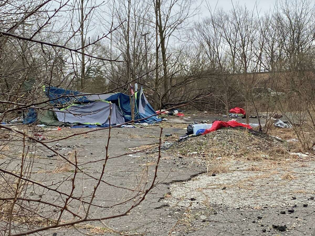 Vacant land on the corner of Todd and Platt roads - noticeably filled with garbage and two tents - will soon house a new retail development.