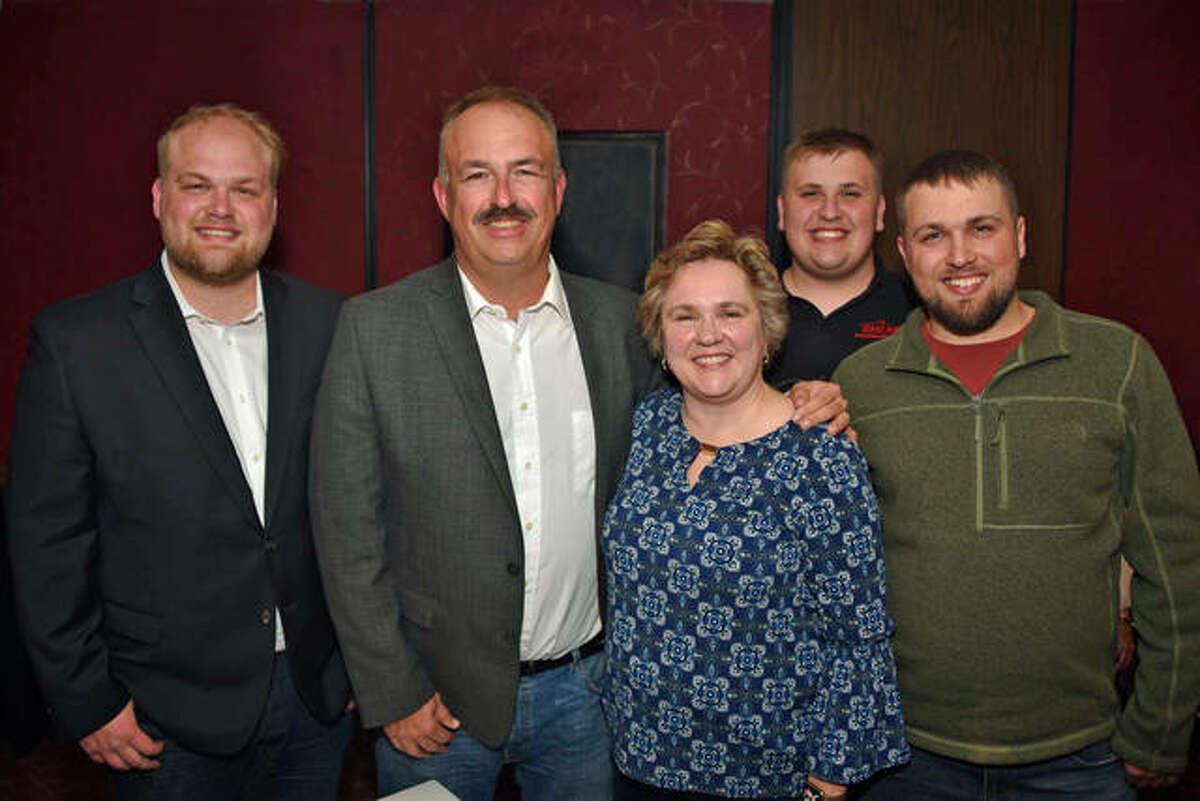 The Cisler family consists of, from left, Matthew, David, Susan, Joseph and Andrew Cisler.